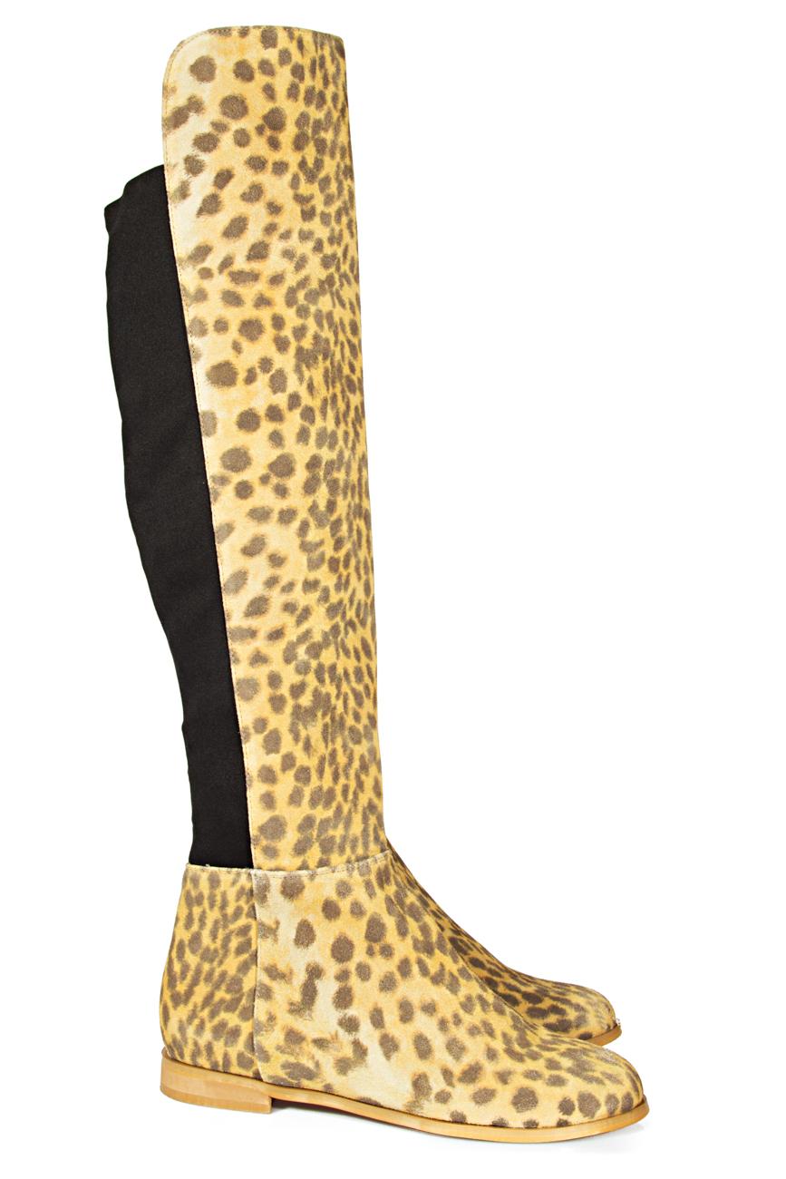 Cizme peste genunchi leopard Ana Kaloni imagine 1