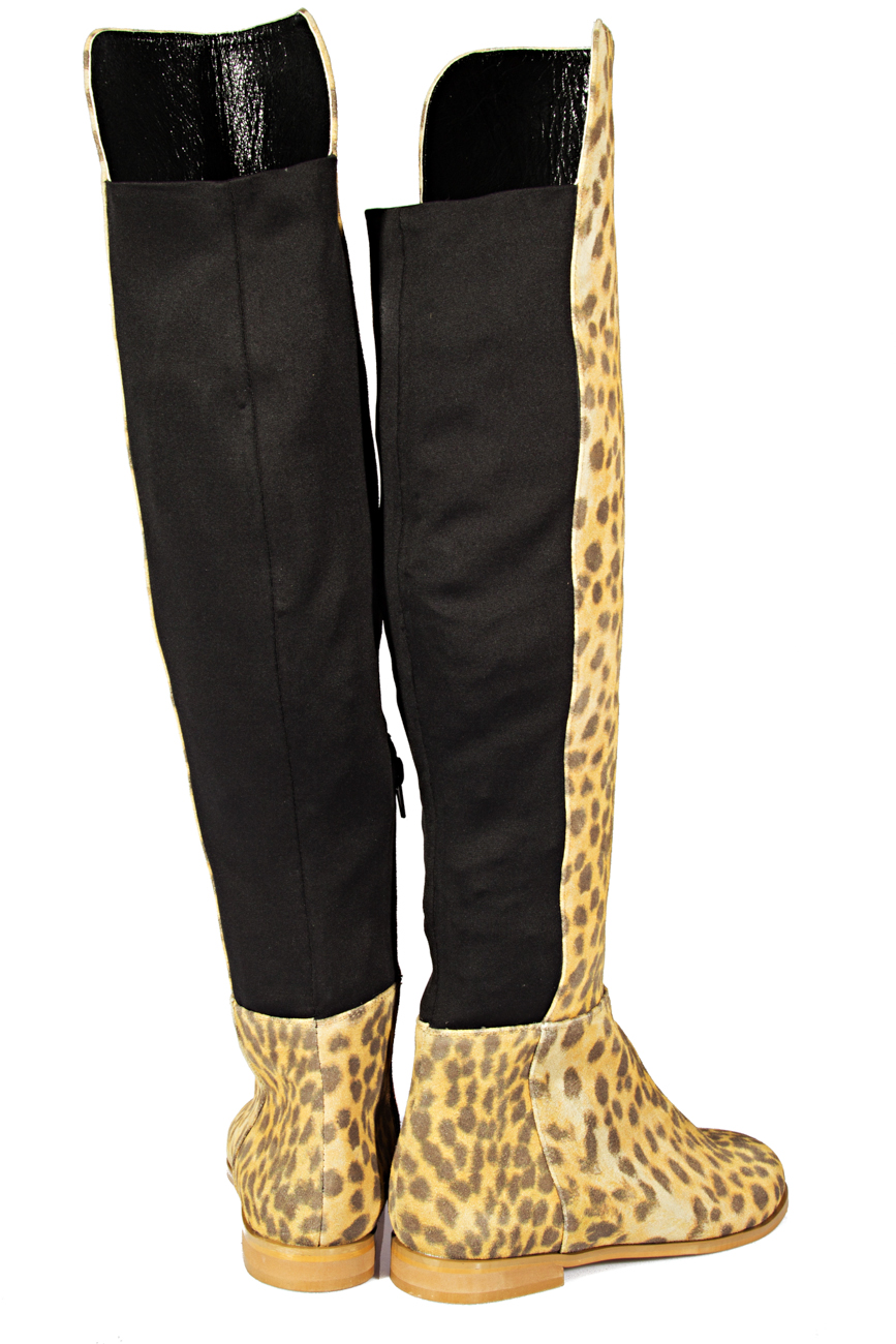 Over-the-knee leopard boots Ana Kaloni image 2