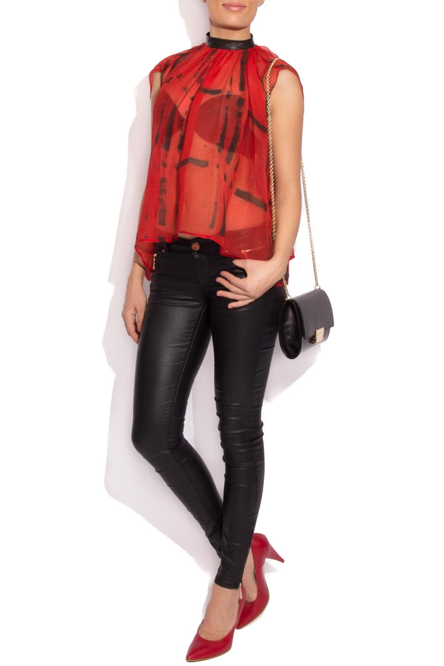 Plaid silk blouse B.A.D. Style by Adriana Barar image 0
