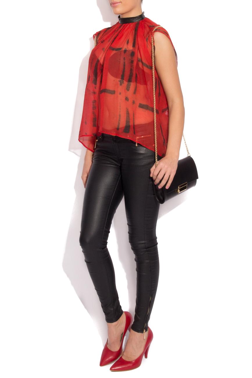 Plaid silk blouse B.A.D. Style by Adriana Barar image 1