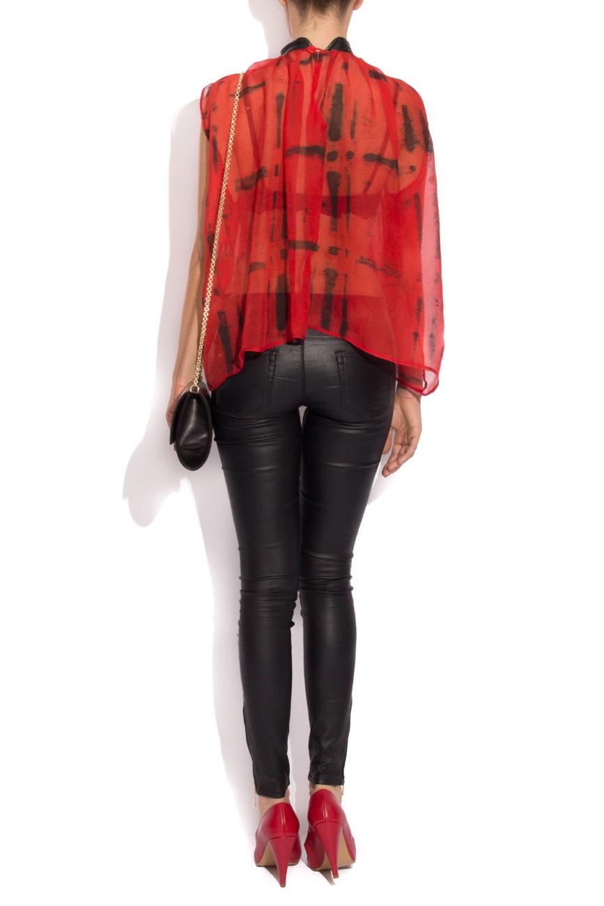 Plaid silk blouse B.A.D. Style by Adriana Barar image 2