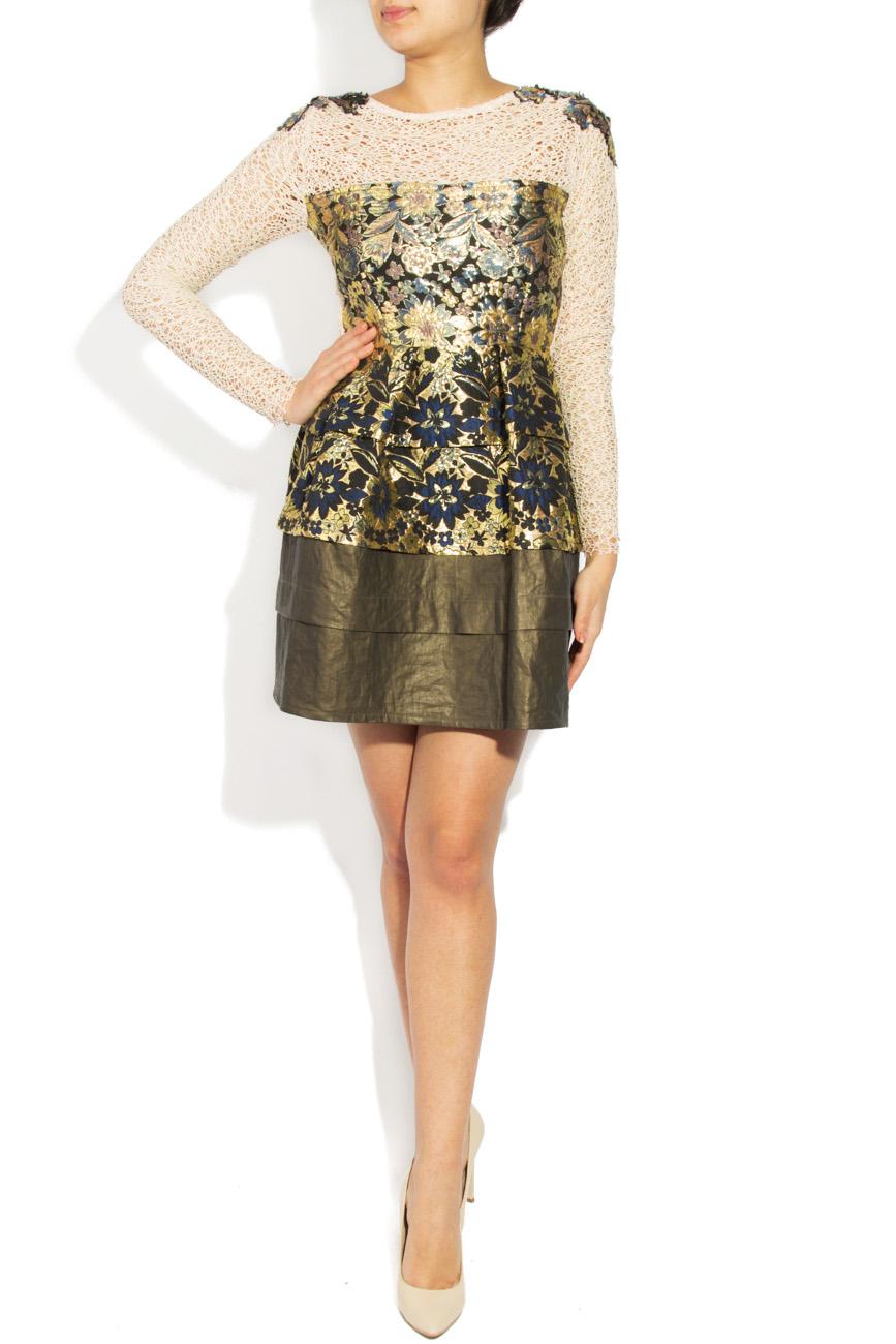 Brocade dress 3D effect Simona Semen image 0