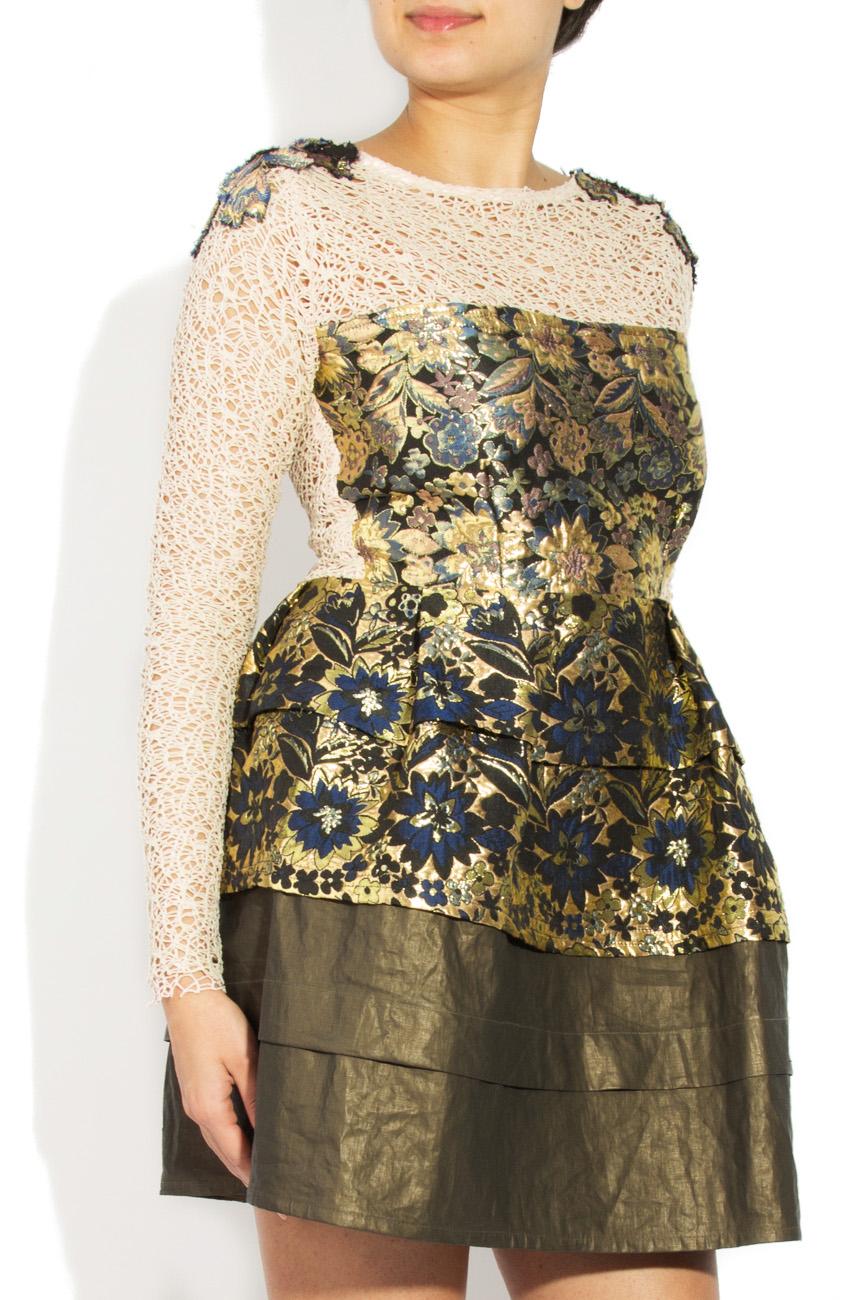 Brocade dress 3D effect Simona Semen image 1