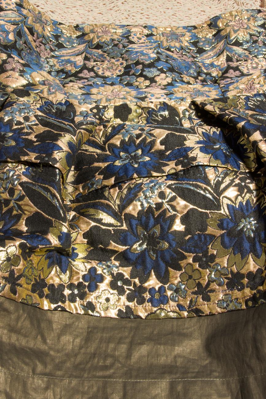Robe en brocard texturé Simona Semen image 3