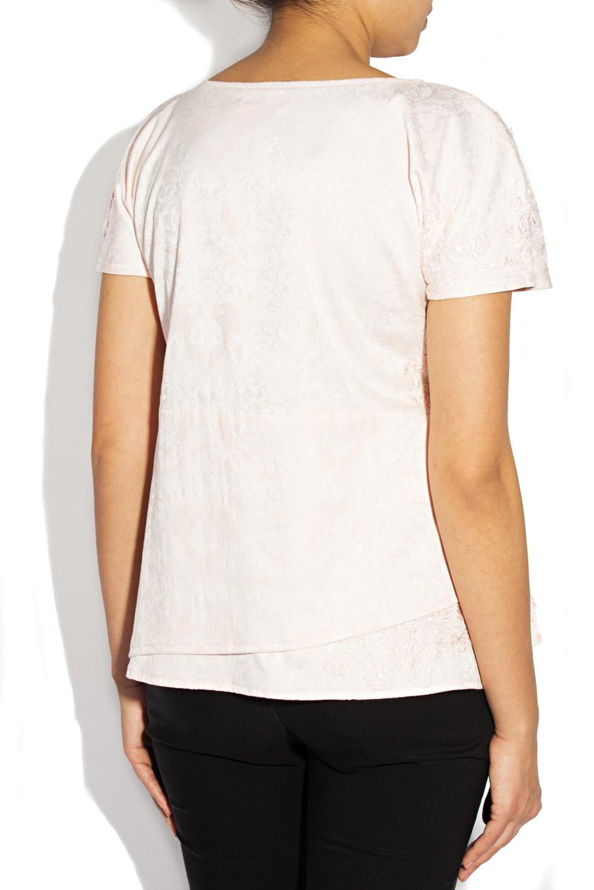 Pink embroidered blouse Simona Semen image 1
