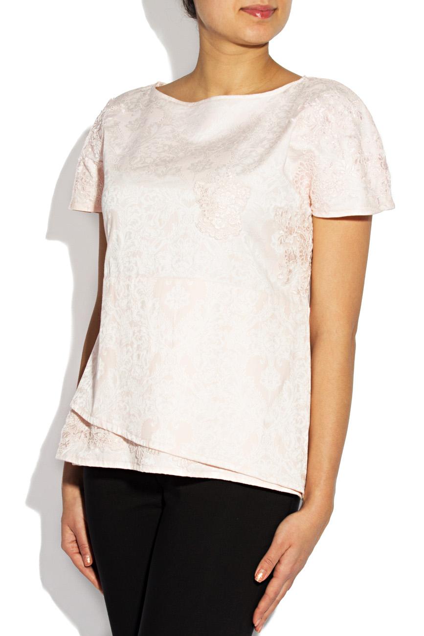 Pink embroidered blouse Simona Semen image 2