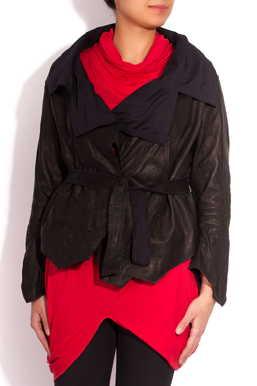 Asymmetrical Leather Jacket Edita Lupea image 1
