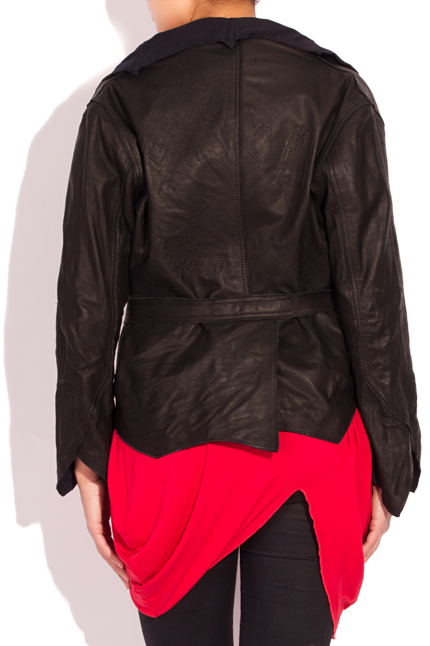 Asymmetrical Leather Jacket Edita Lupea image 2