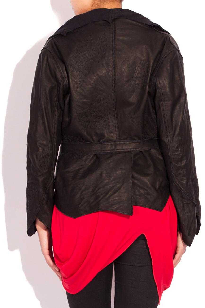 Asymmetrical Leather Jacket Edita Lupea image 2
