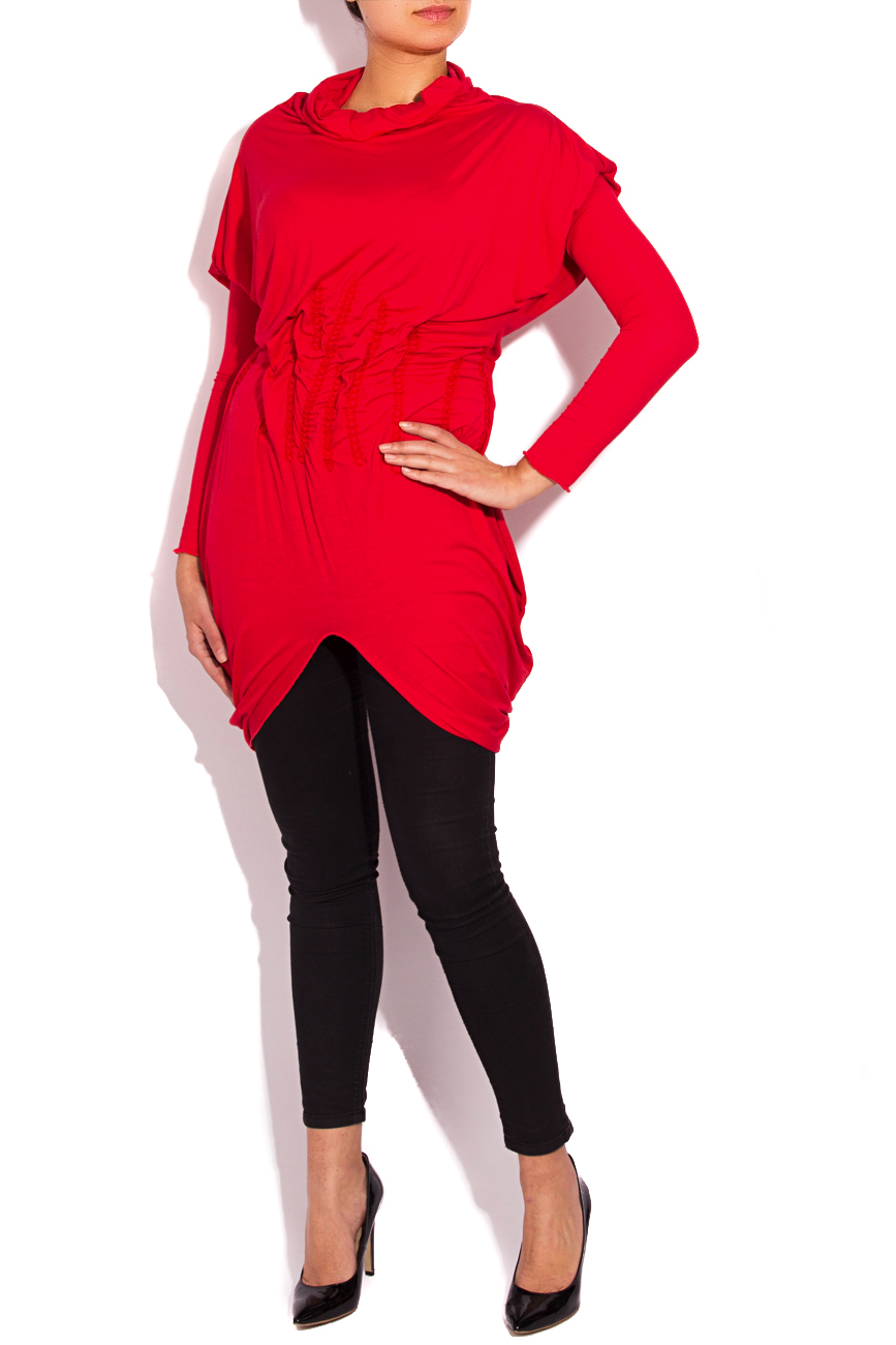 Red jersey blouse Edita Lupea image 0
