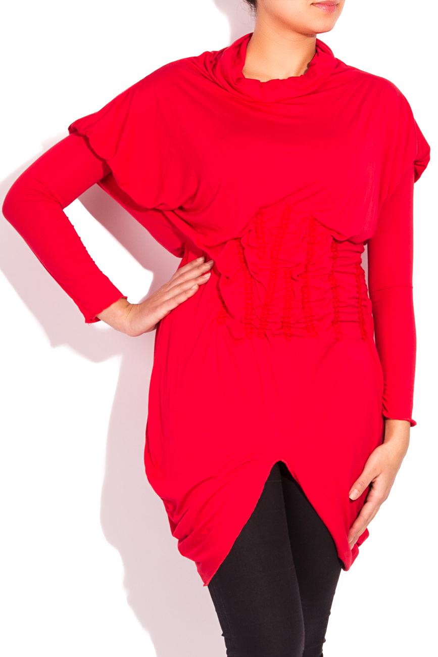 Red jersey blouse Edita Lupea image 1