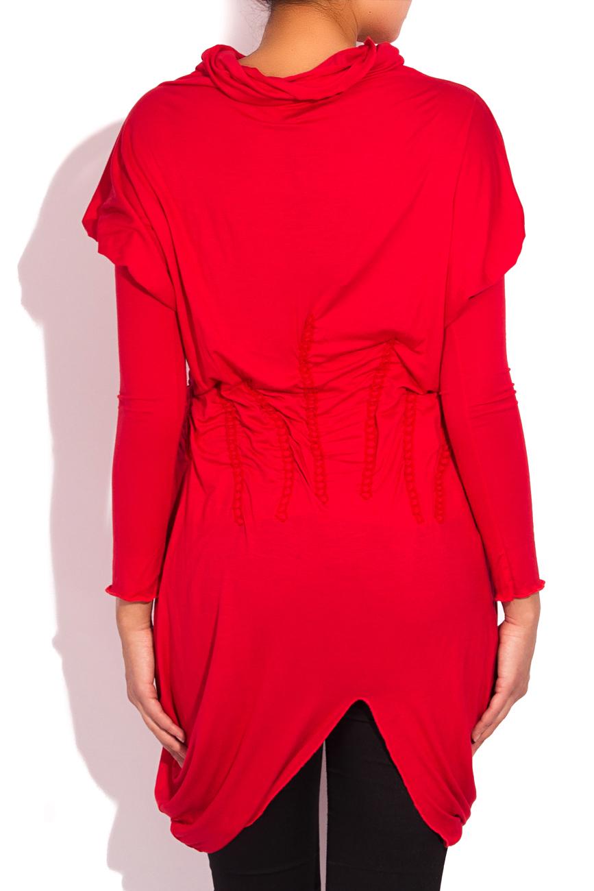 Red jersey blouse Edita Lupea image 2