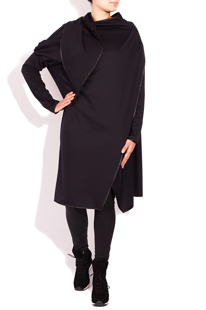 Black cardigan with scarf Edita Lupea image 0