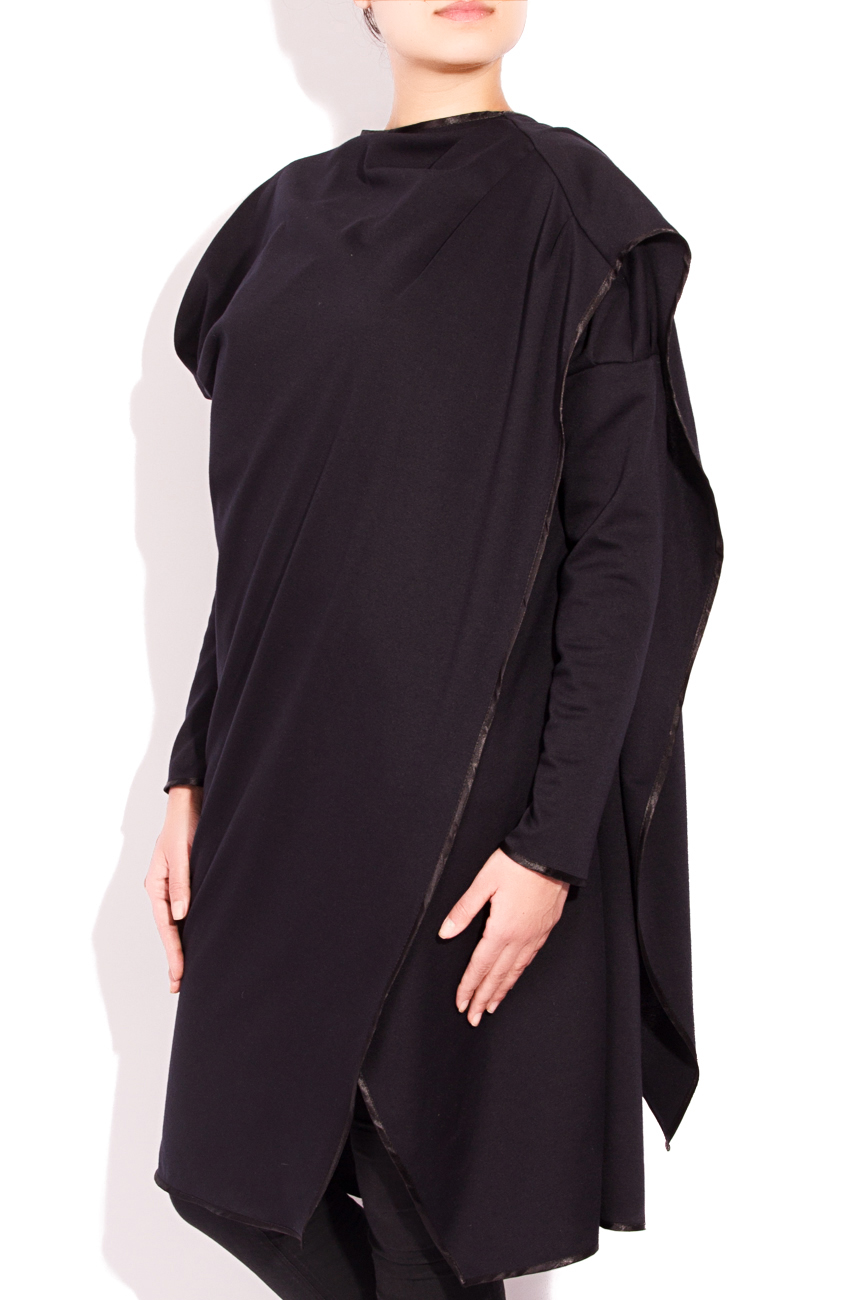 Black cardigan with scarf Edita Lupea image 1