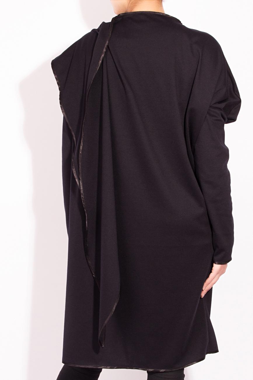Black cardigan with scarf Edita Lupea image 2