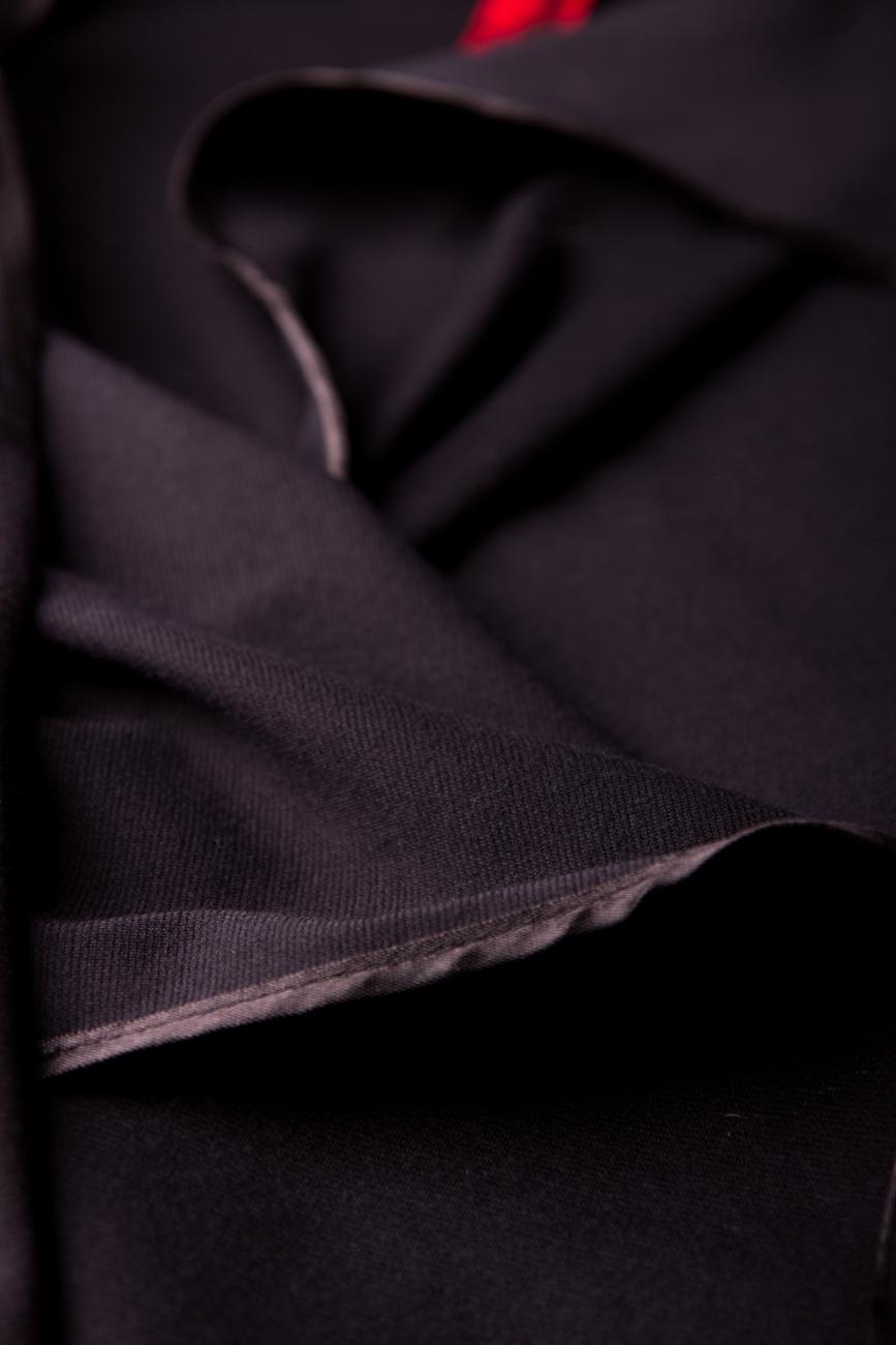 Black cardigan with scarf Edita Lupea image 3