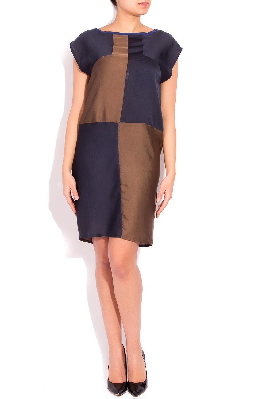 Navy blue and brown dress Smaranda Almasan image 0