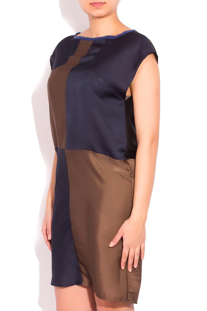 Navy blue and brown dress Smaranda Almasan image 1