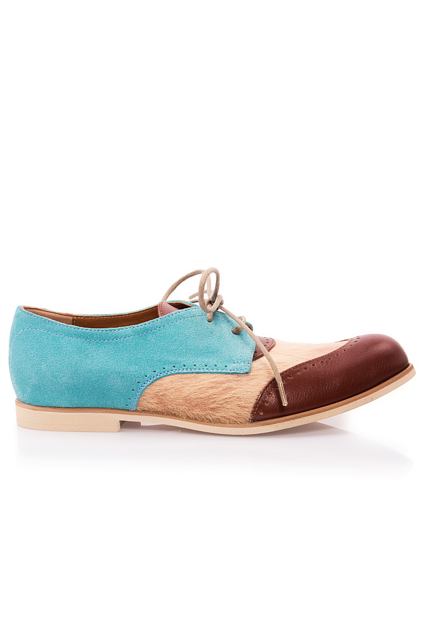 Beige and blue pony shoes Mono Shoes by Dumitru Mihaica image 0