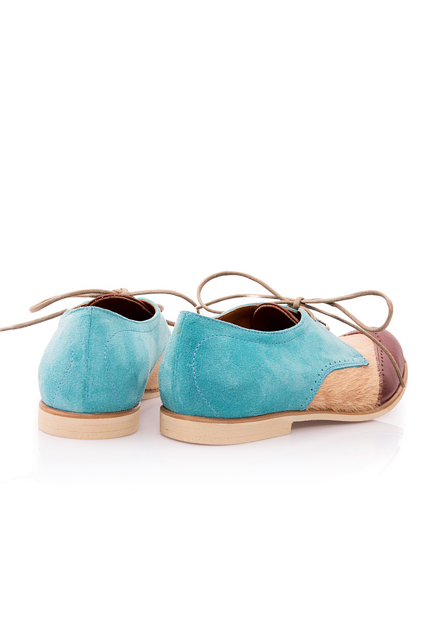 Beige and blue pony shoes Mono Shoes by Dumitru Mihaica image 2