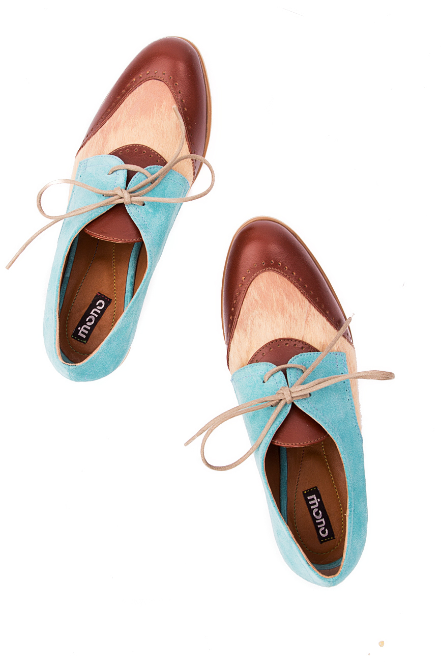 Beige and blue pony shoes Mono Shoes by Dumitru Mihaica image 3