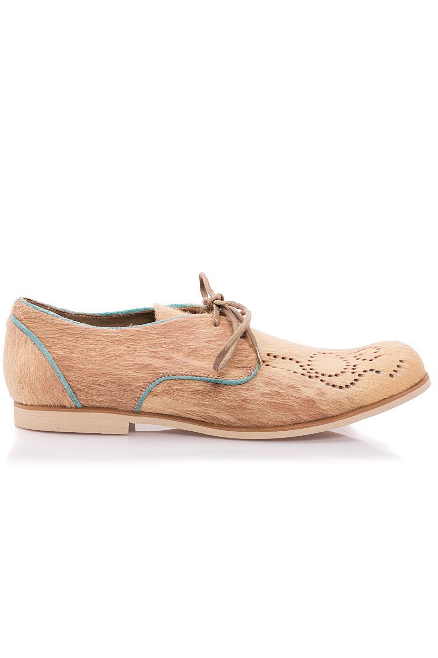 Beige pony fur shoes Mono Shoes by Dumitru Mihaica image 0