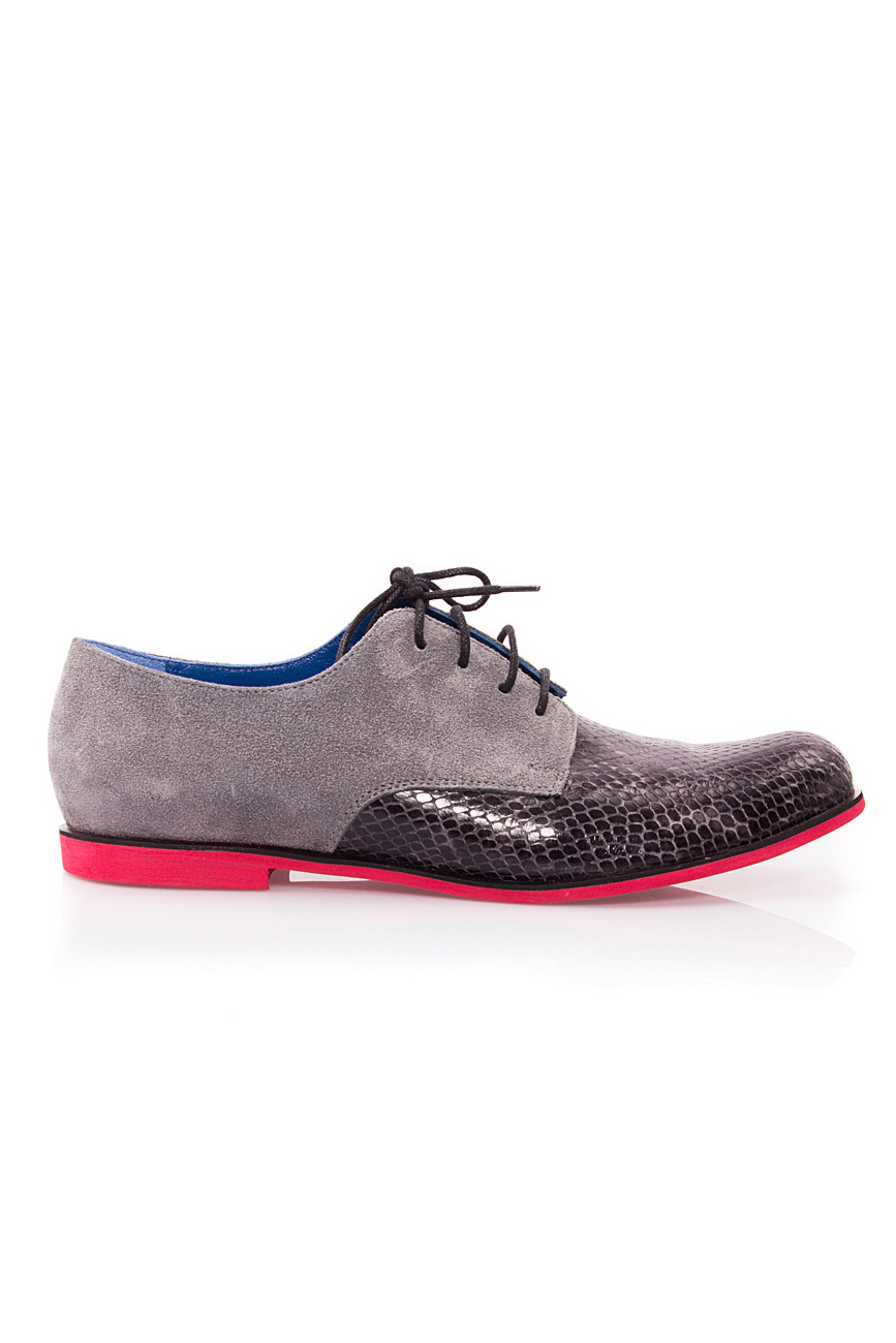 Grey snake leather shoes Mono Shoes by Dumitru Mihaica image 0