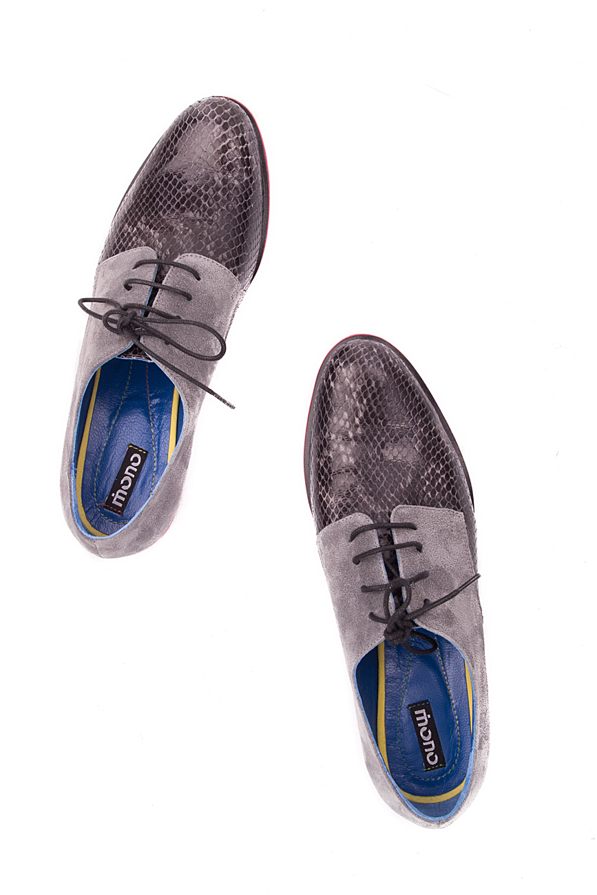 Grey snake leather shoes Mono Shoes by Dumitru Mihaica image 3