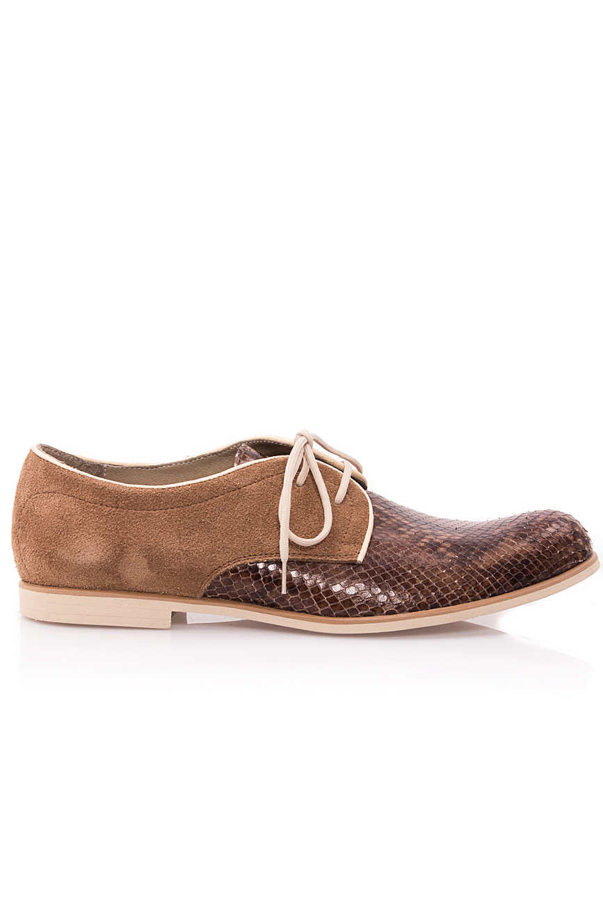 Brown snake leather shoes Mono Shoes by Dumitru Mihaica image 0
