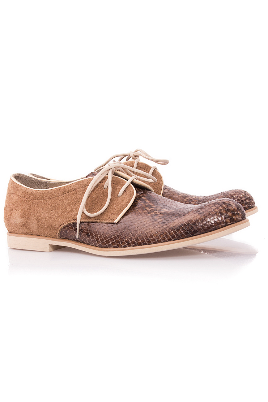 Chaussures Oxford marron Mono Shoes by Dumitru Mihaica image 1
