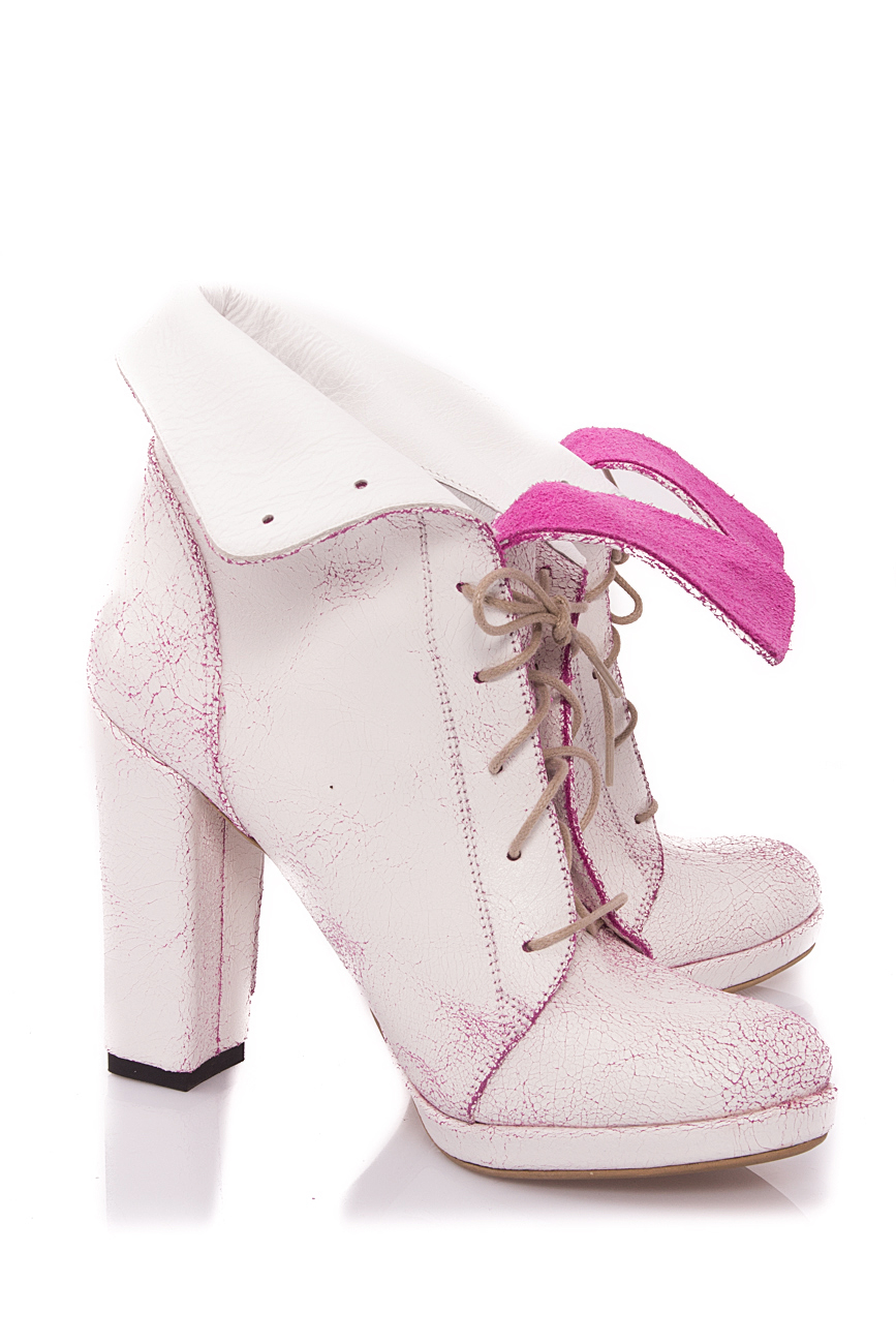 White and pink boots Mono Shoes by Dumitru Mihaica image 1