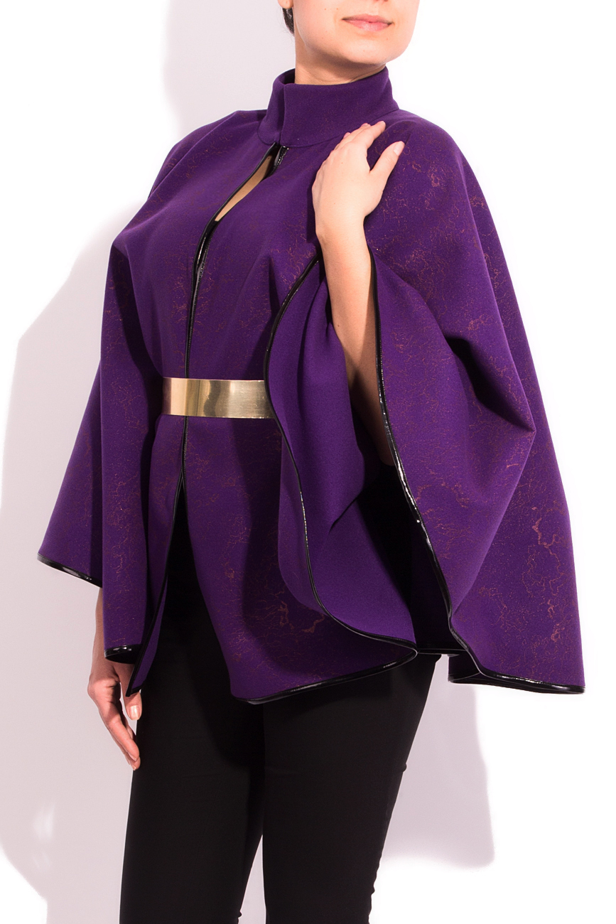 Purple cloth cape Alexandra Calafeteanu image 1