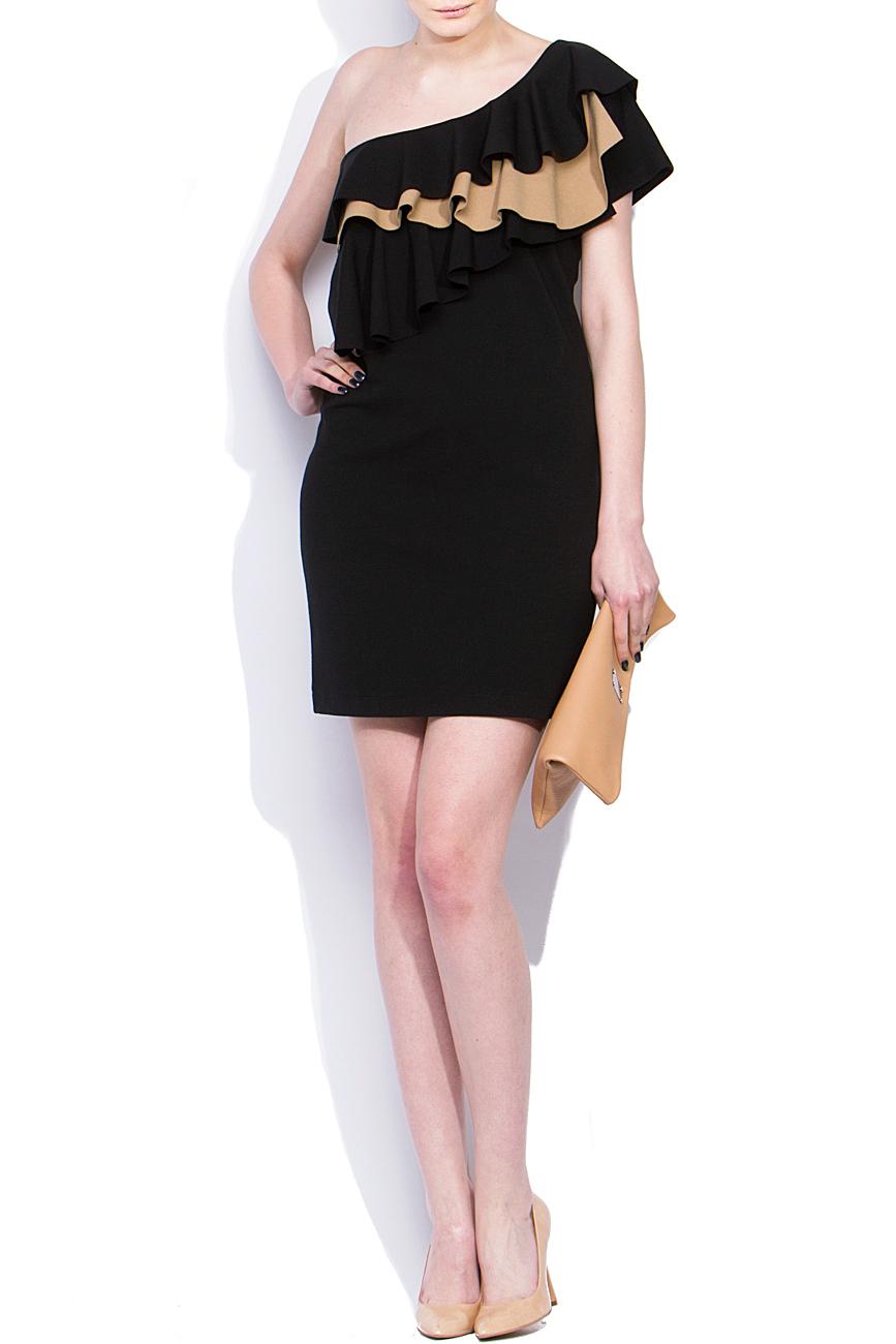 One shoulder dress with ruffles Laura Ciobanu image 0