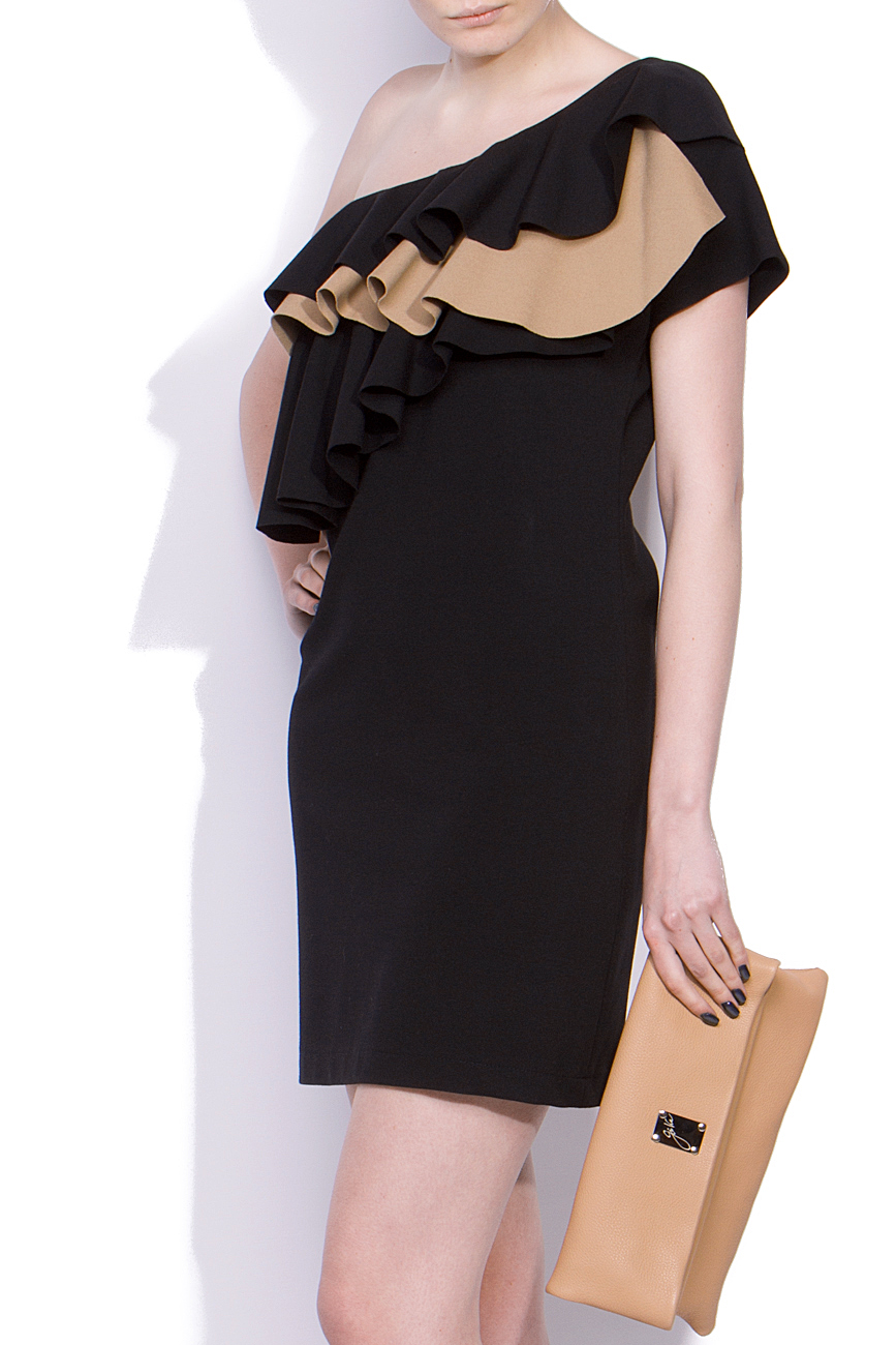 One shoulder dress with ruffles Laura Ciobanu image 1