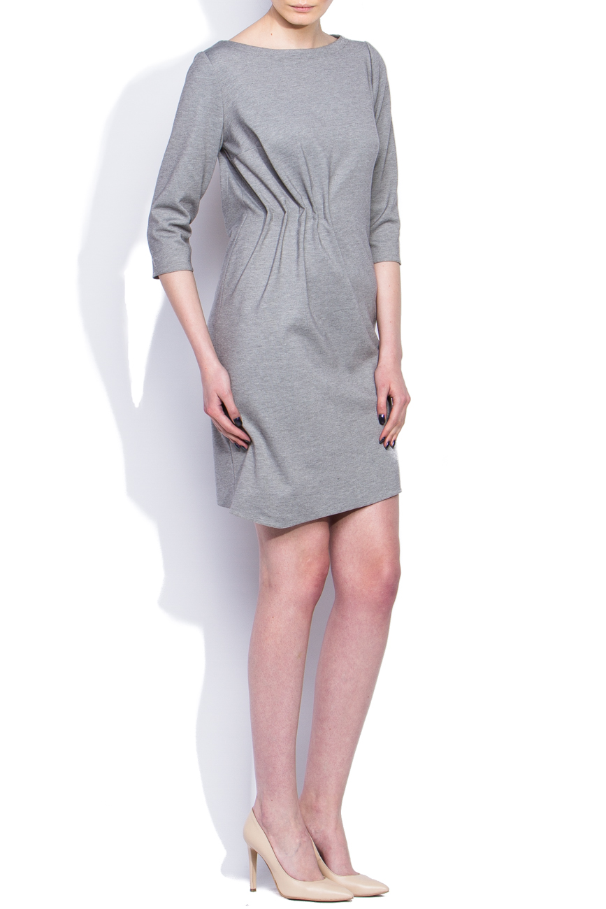 Gray draped dress Dorin Negrau image 1