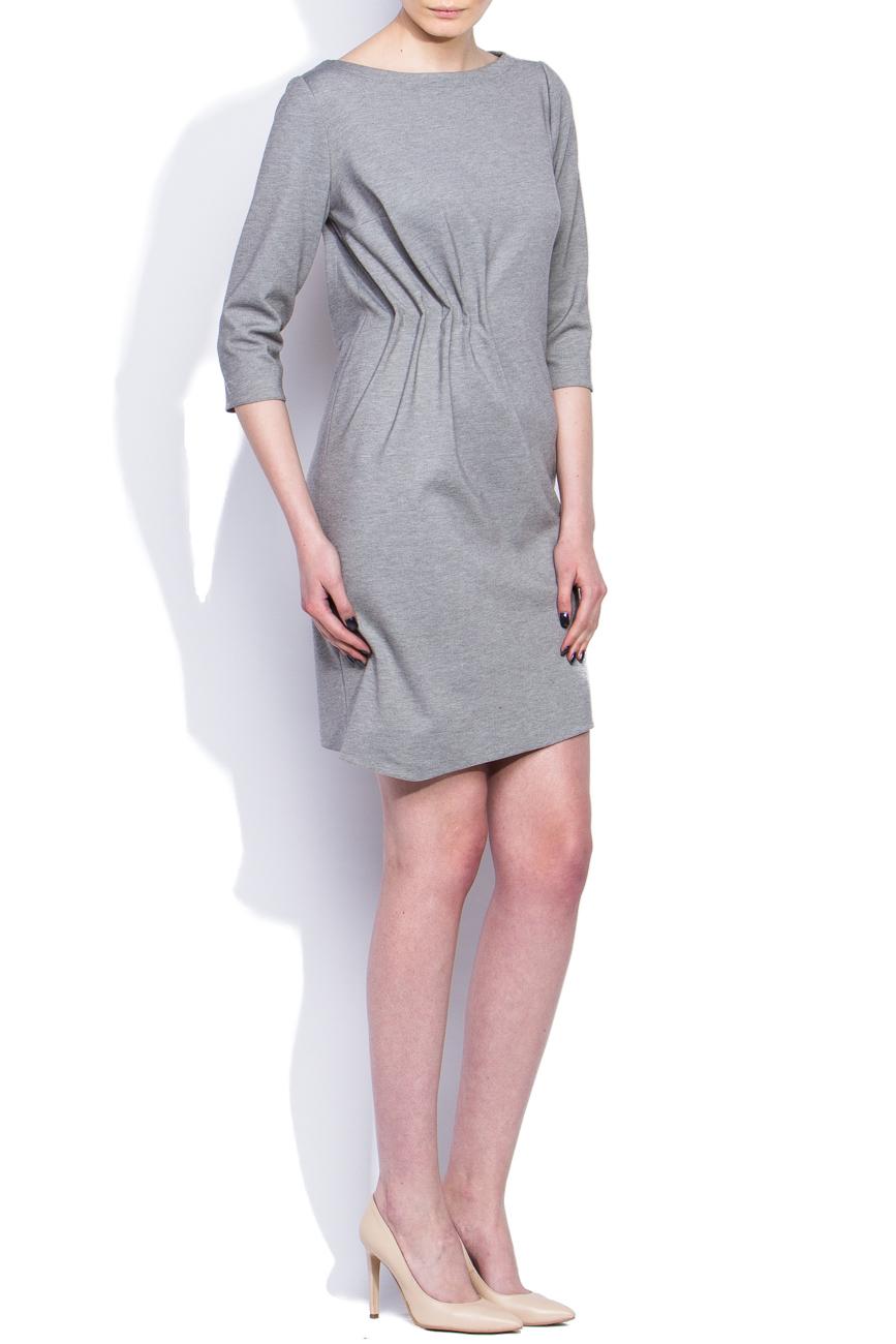 Gray draped dress Dorin Negrau image 1