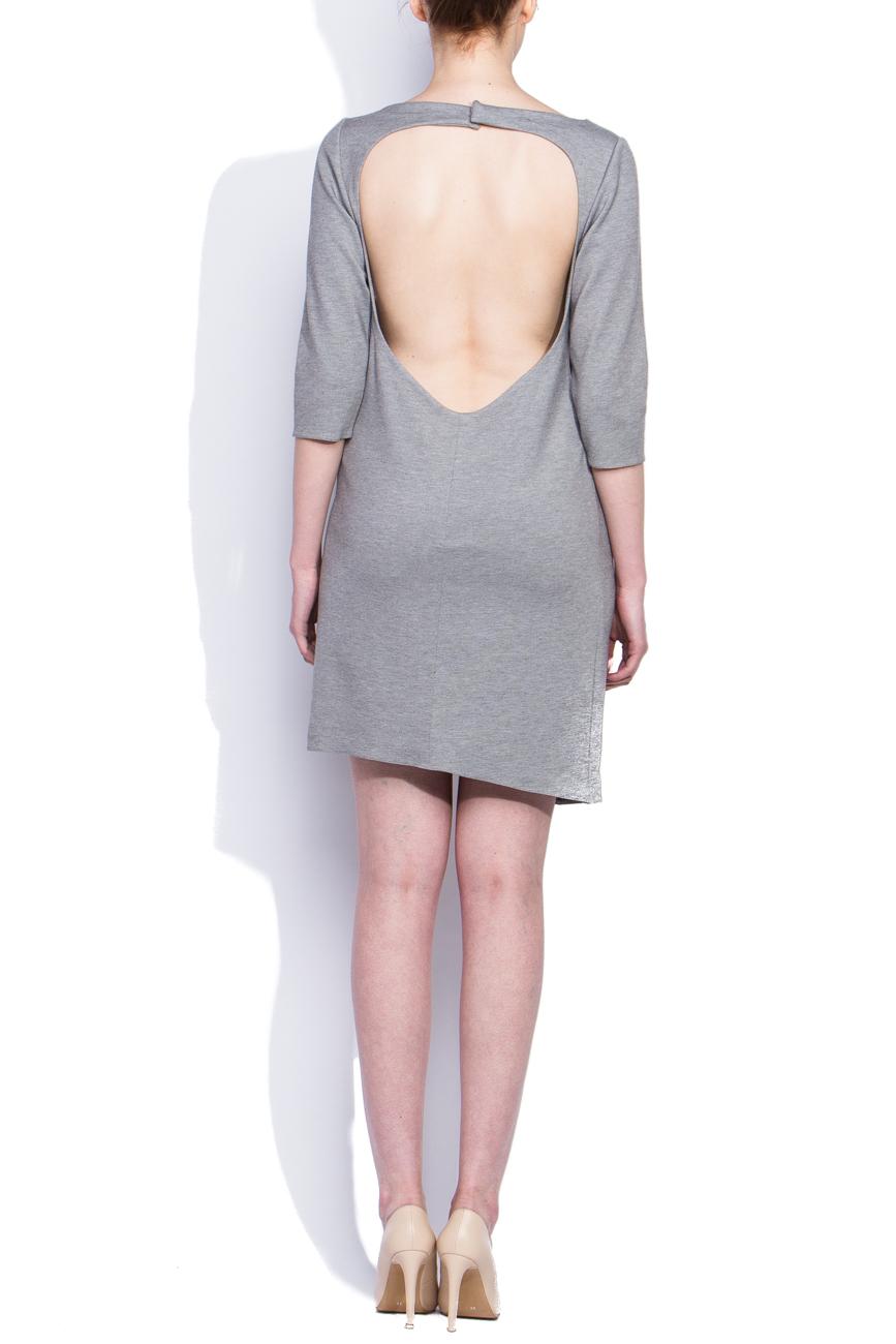 Gray draped dress Dorin Negrau image 2