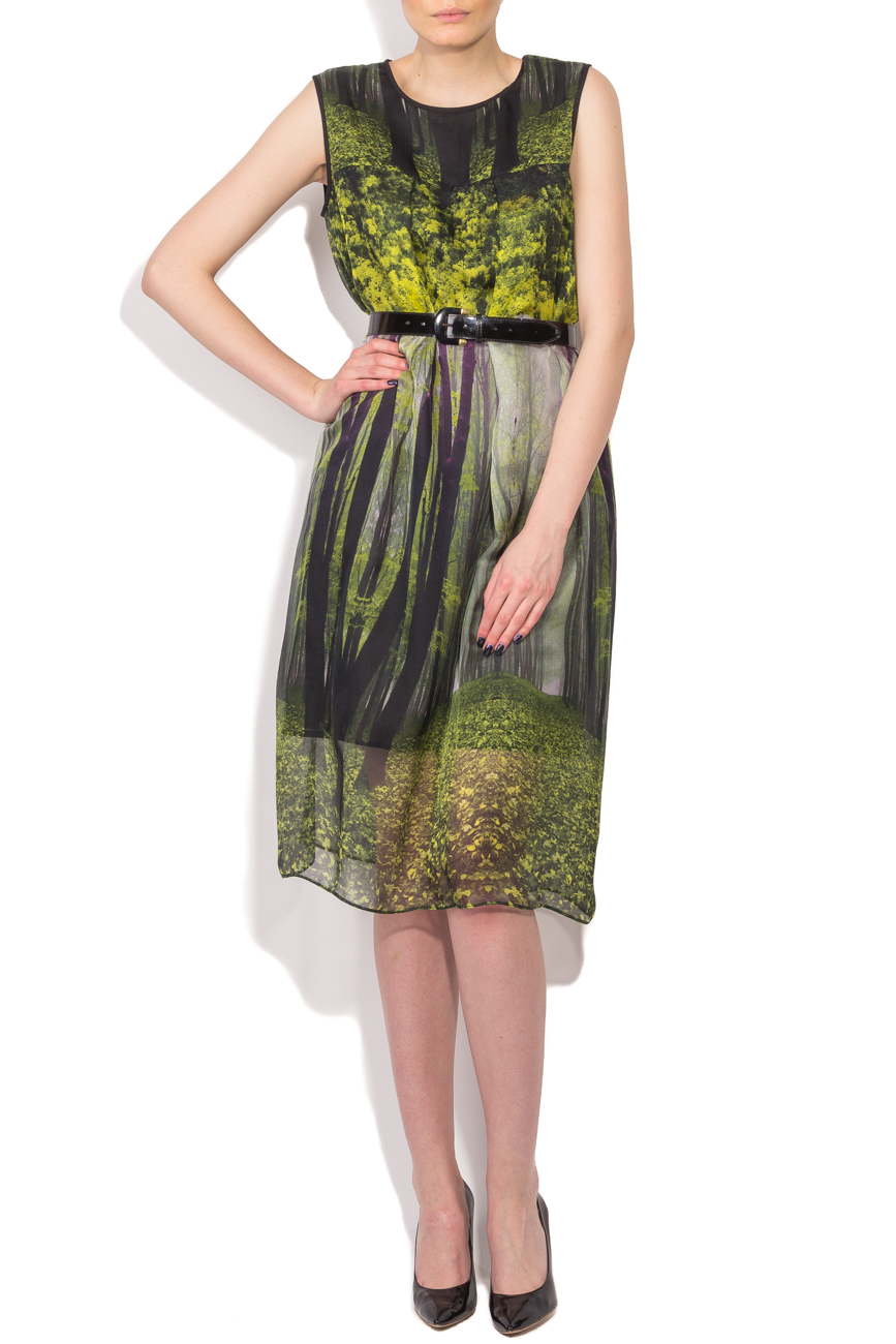 Midi dress with forest print Cristina Staicu image 0