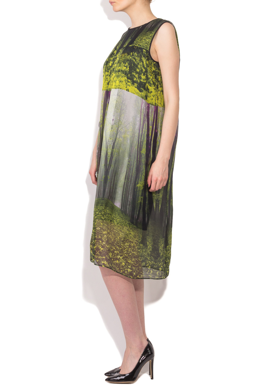 Midi dress with forest print Cristina Staicu image 1
