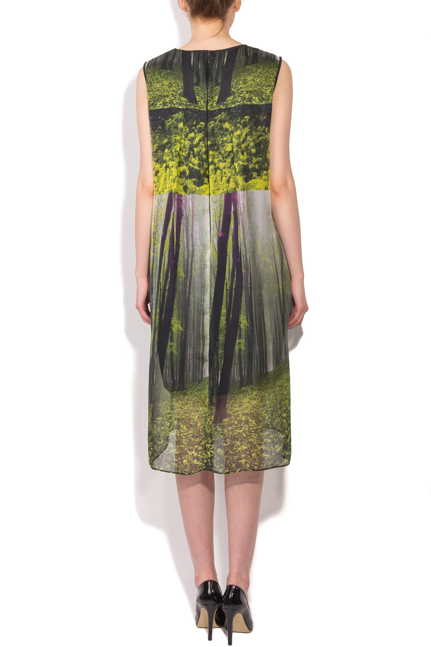 Midi dress with forest print Cristina Staicu image 2