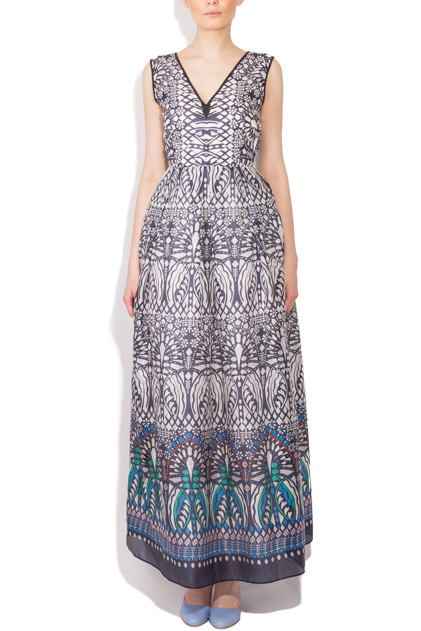 Tribal print long dress Cristina Staicu image 0