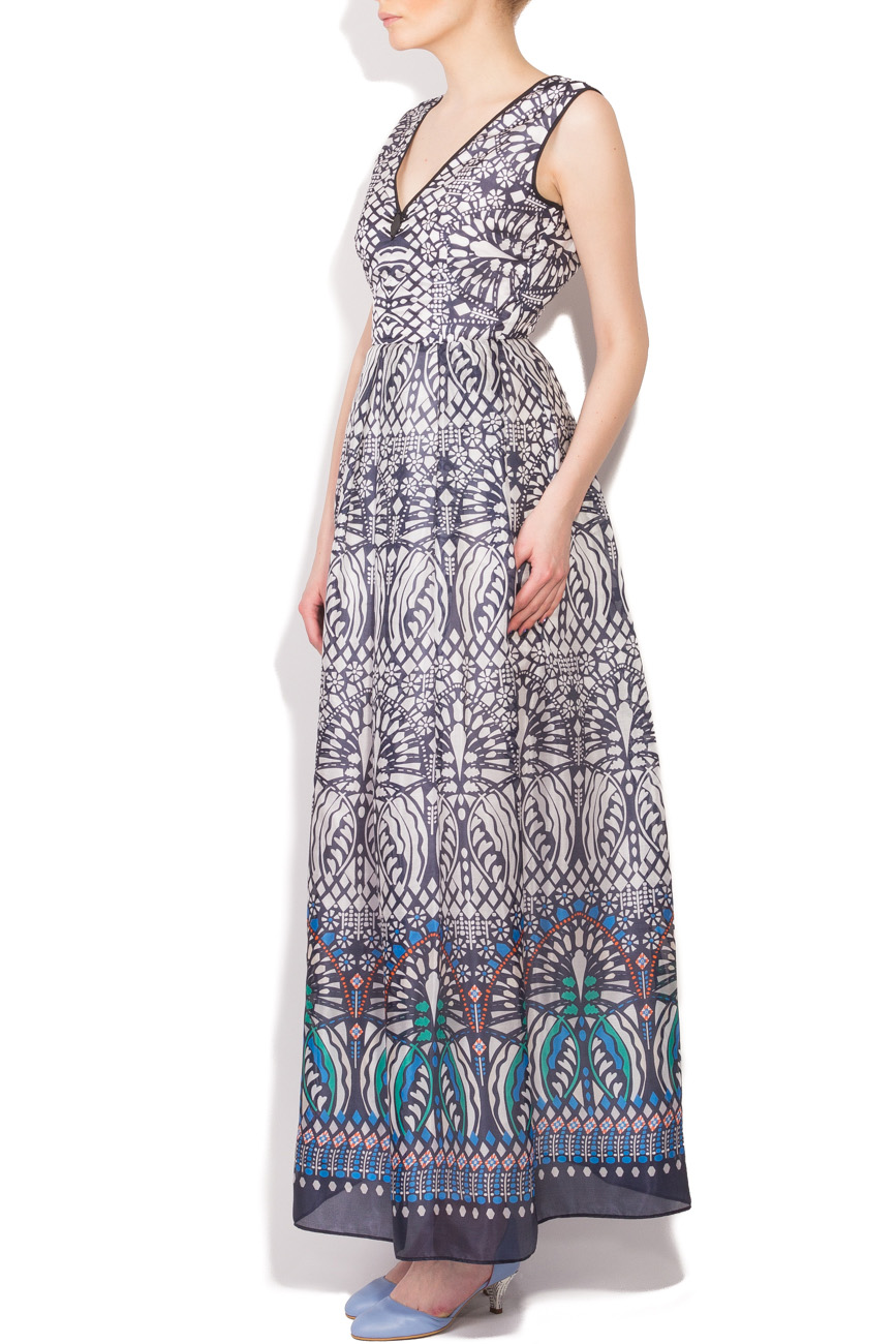 Tribal print long dress Cristina Staicu image 1
