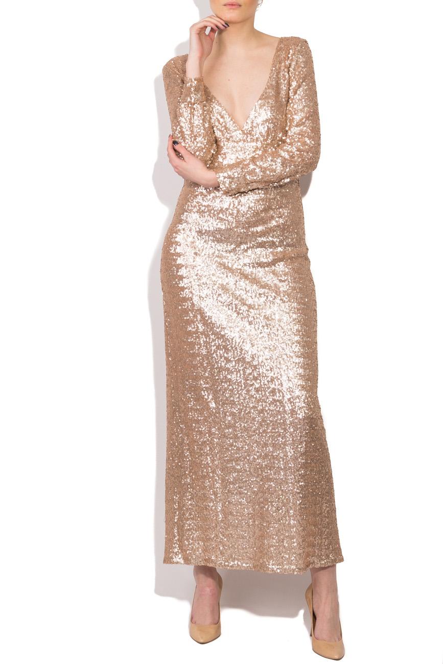 Beige sequined dress Dorin Negrau image 0