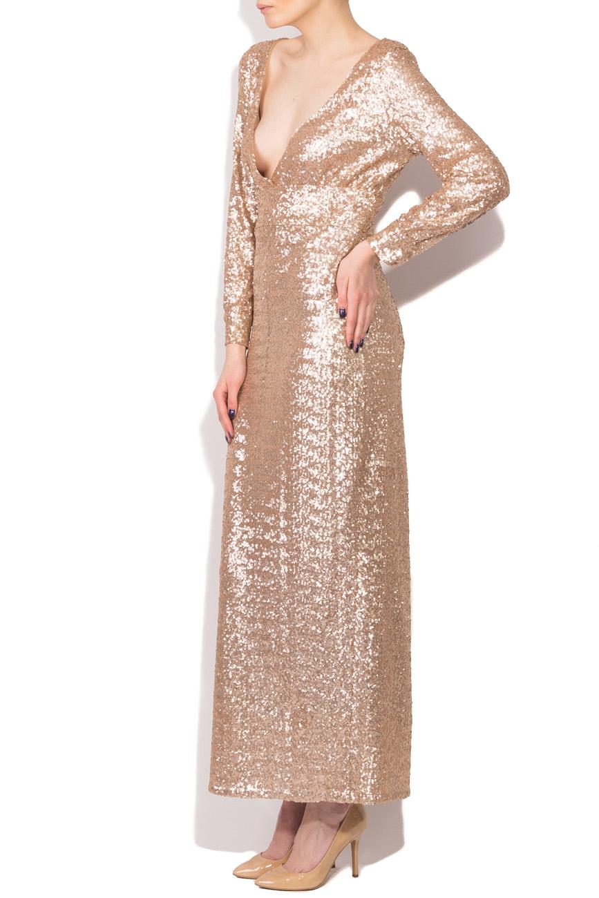 Beige sequined dress Dorin Negrau image 1