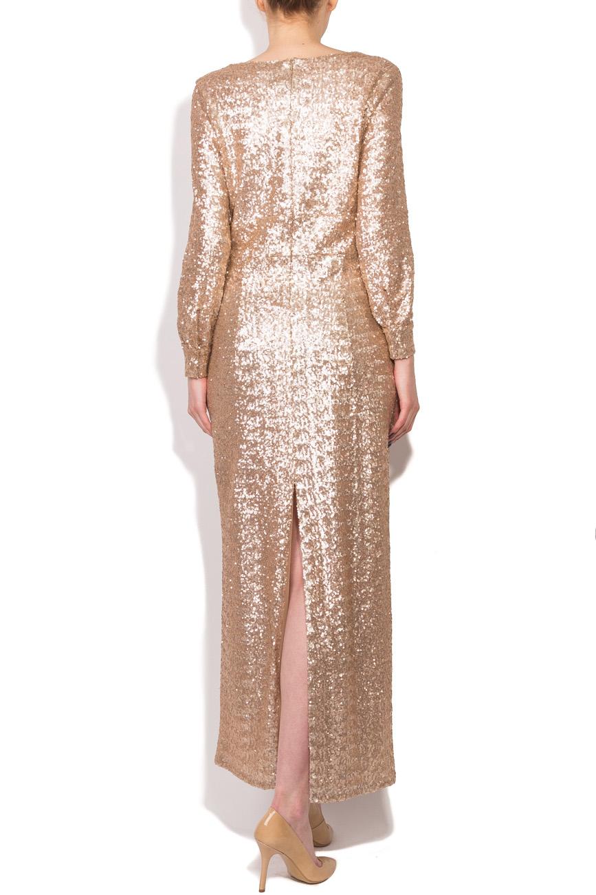 Beige sequined dress Dorin Negrau image 2