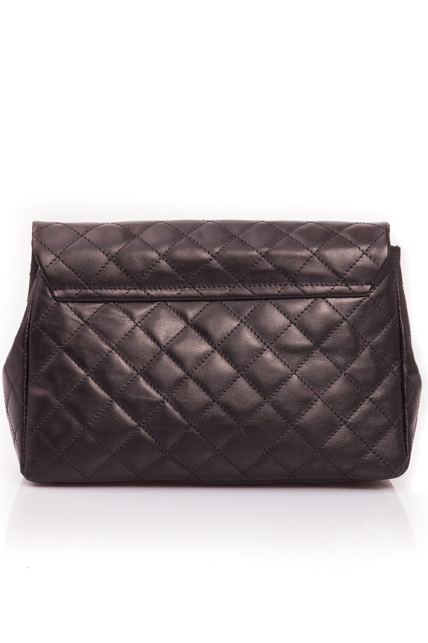 Black quilted leather bag Giuka by Nicolaescu Georgiana  image 4