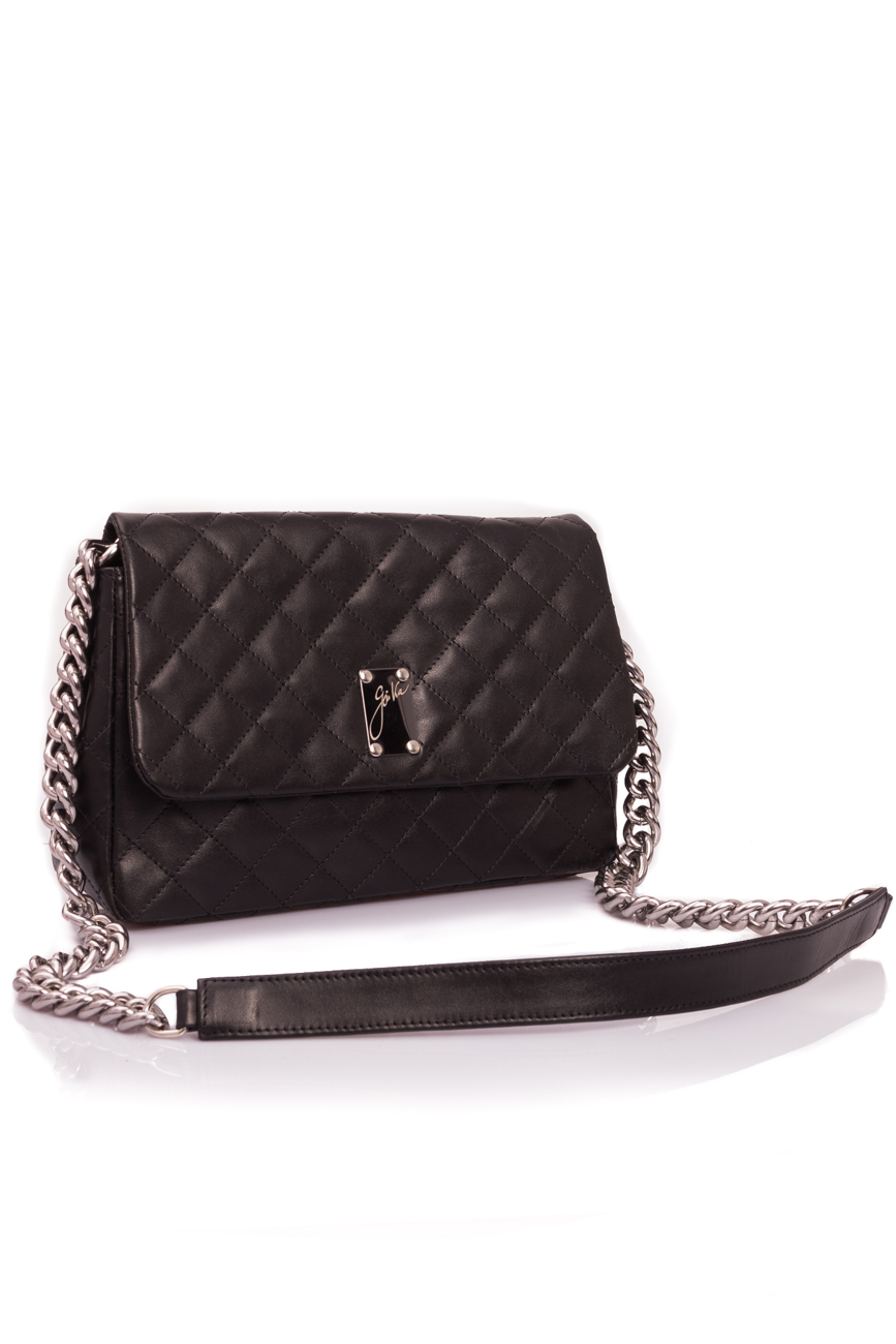 Black quilted leather bag Giuka by Nicolaescu Georgiana  image 0