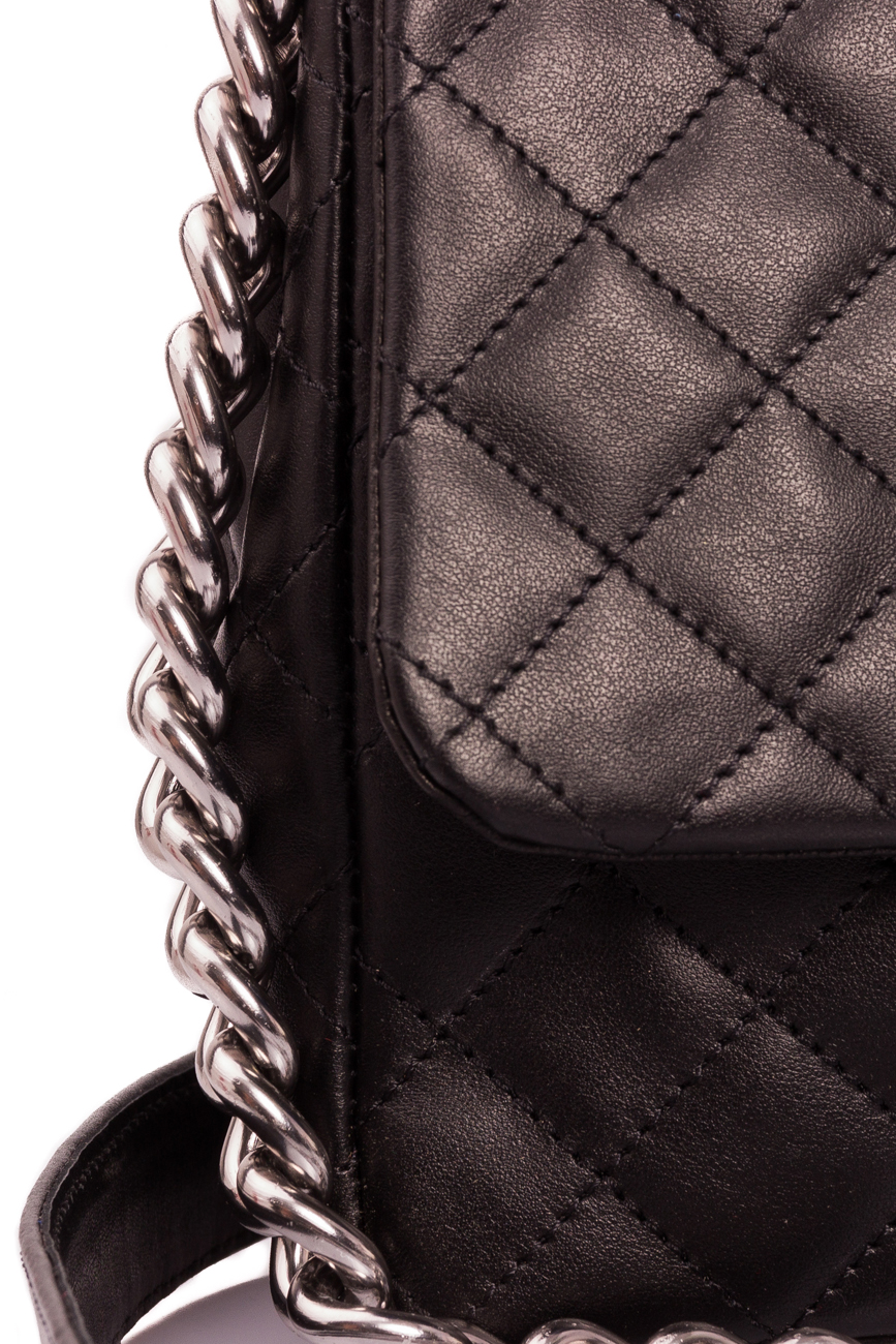 Black quilted leather bag Giuka by Nicolaescu Georgiana  image 2