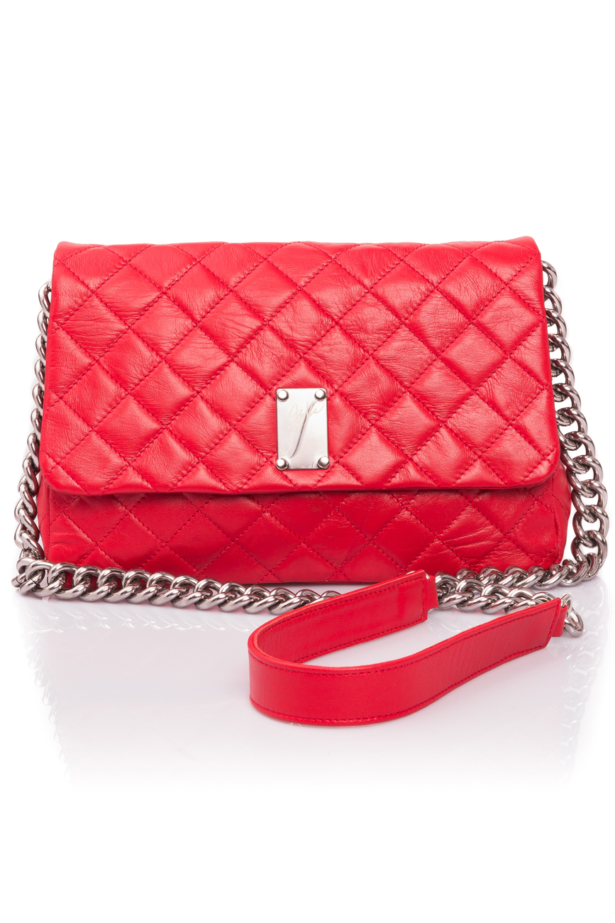 Intense red quilted leather bag Giuka by Nicolaescu Georgiana  image 1