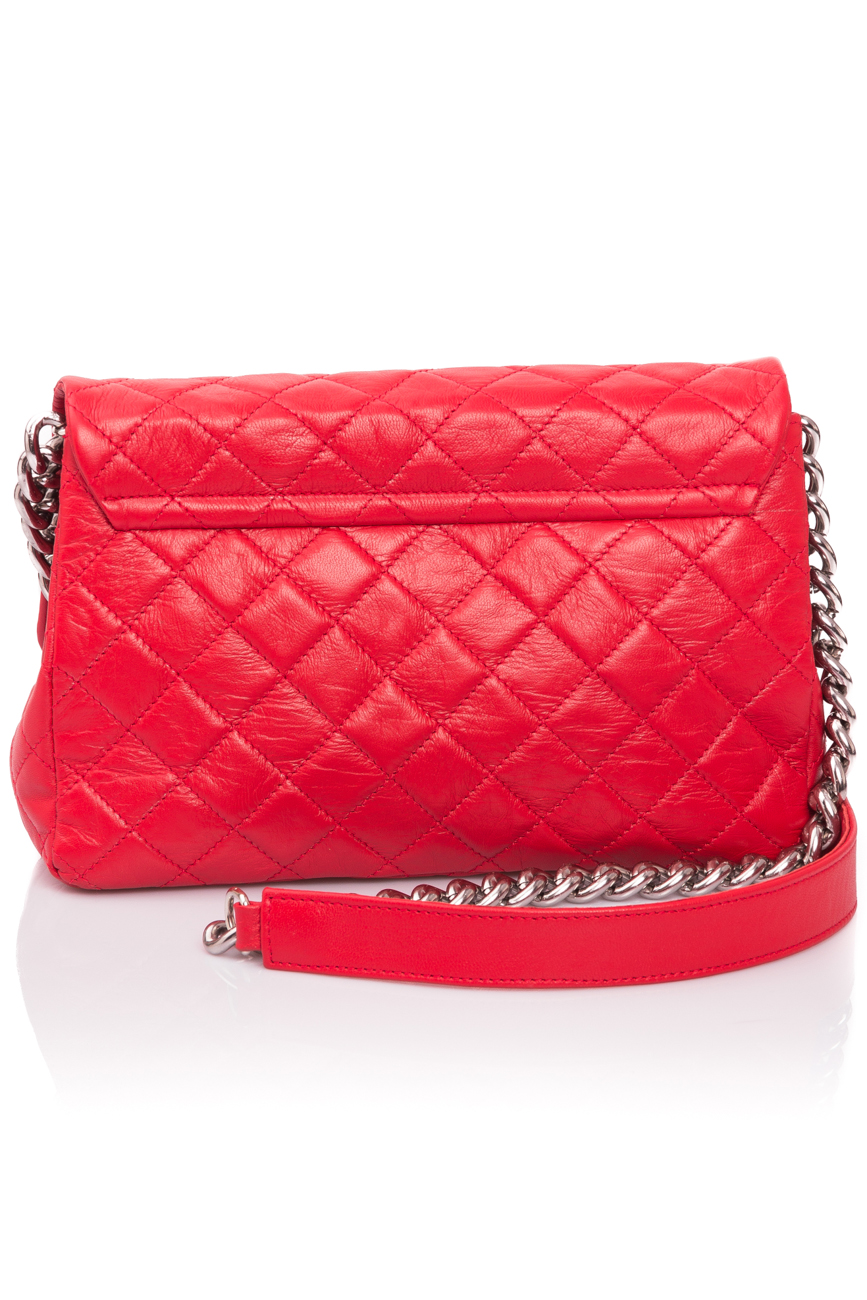Intense red quilted leather bag Giuka by Nicolaescu Georgiana  image 4